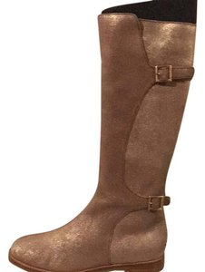 Jimmy Choo gold shimmer Boots