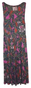 Anthropologie short dress Green, Pink, Orange, Tan, Blue, White Paisley Spring on Tradesy