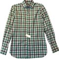 Tom Ford Button Down Shirt white/green check