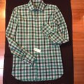 Tom Ford Button Down Shirt white/green check Image 1
