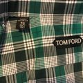 Tom Ford Button Down Shirt white/green check Image 3