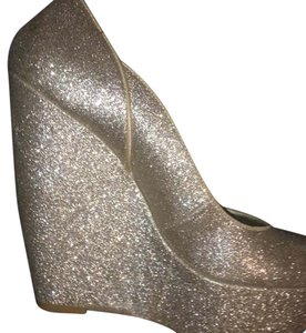 Carlos by Carlos Santana Gold Glitter Wedges