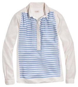 J.Crew Top Blue, White
