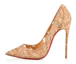Christian Louboutin Heels Stiletto So Kate Cork Nude Pumps
