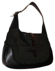 8bf2381eb2 Gucci Jackie O Chrome Hardware Everyday Purse Excellent Vintage Rare Color  Combo Hobo Bag