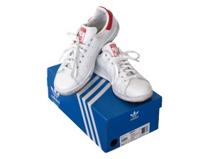 adidas Leather Sneakers white/red Athletic