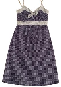 Ella Moss short dress navy white and grey on Tradesy