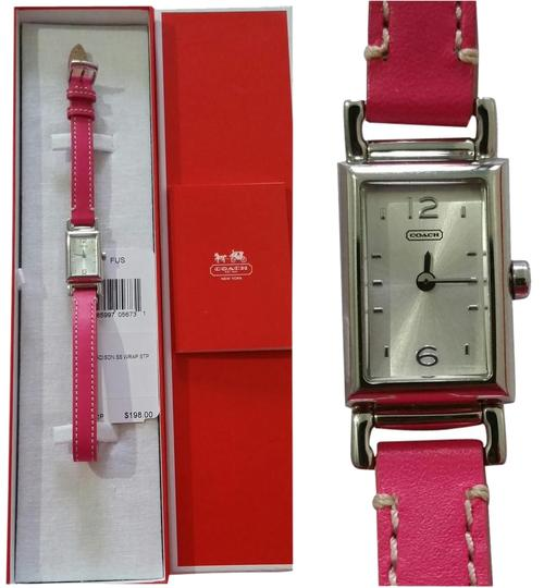 Preload https://img-static.tradesy.com/item/2043312/coach-fuchsia-madison-stainless-steel-wrap-strap-w1092-watch-0-1-540-540.jpg