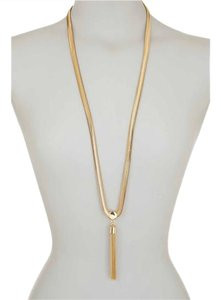 Vince Camuto New Long Tribal Core Snake Chain Tassel Necklace, Gold, C501270-GOLD