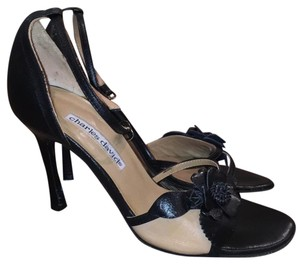 Charles David black and nude Sandals