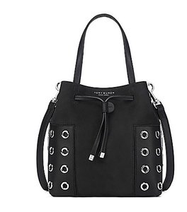 Tory Burch Cross Body Suede Tote in Black