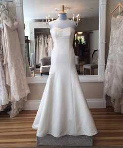 Augusta Jones Cream Silk Grace Formal Wedding Dress Size 10 (M)