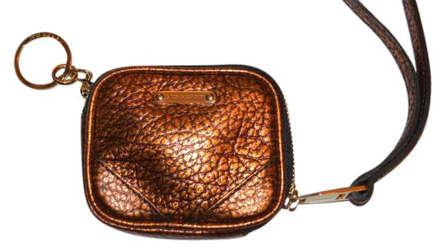 Item - Grainy Leather Coin Case with Keyring Wallet