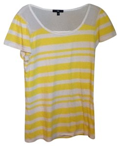 Gap T Shirt Yellow & White