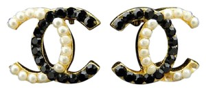 Chanel CC Two-Tone Earrings 213196