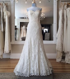 Augusta Jones Cream Lace Jessie Formal Wedding Dress Size 10 (M)