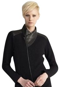 Eileen Fisher black Leather Jacket