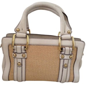 Banana Republic Satchel in white and straw