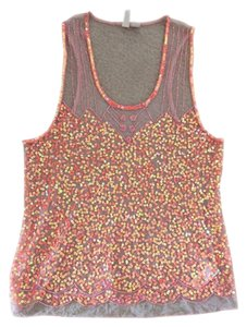 Forever 21 Sequin Sheer Top Orange