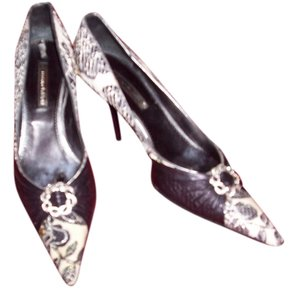 Marino Fabiani Black and White Pumps