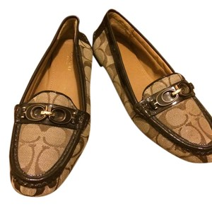 Coach Brown and gold Flats