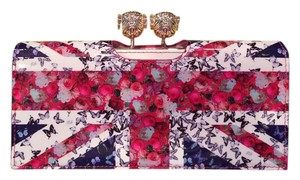 Ted Baker New 'Union Jack' Printed Leather Wallet retail $179+tax
