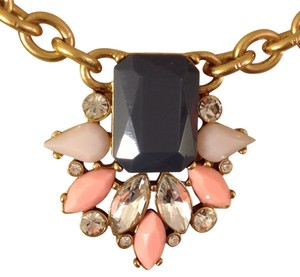J.Crew Gemstone Cluster Statement Necklace