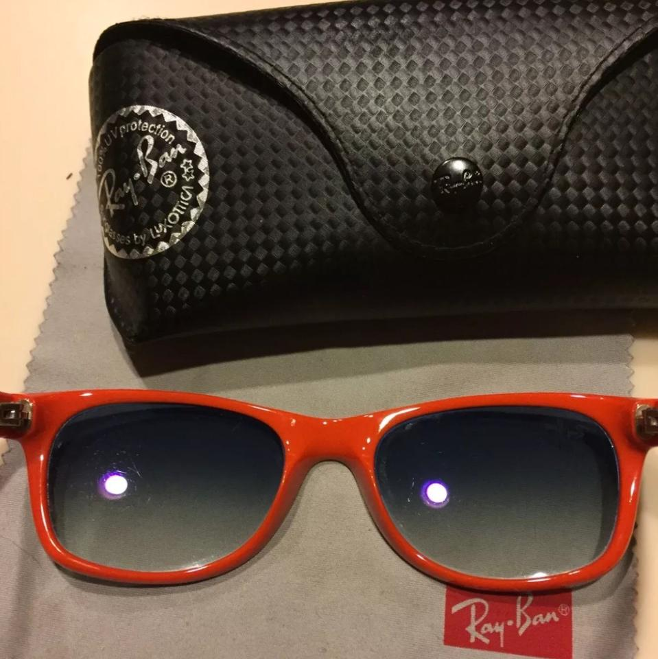 9616e606a5c Ray-Ban Blue and Orange New Wayfarer Color Mix Rb2132 Sunglasses ...