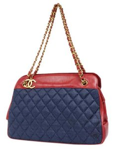 Chanel Denim Jumbo Quilted Denim Shoulder Bag