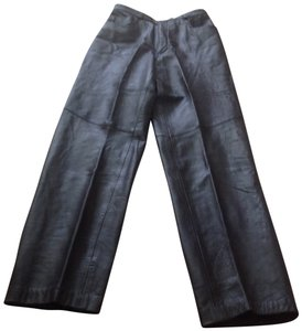 Cache Leather Straight Leg Jeans