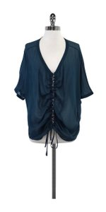 Elizabeth and James Teal Chiffon Poncho Top