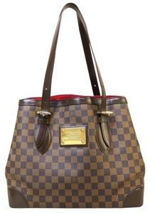 Louis Vuitton Lv Damier Ebene Hampstead Mm Canvas Shoulder Bag