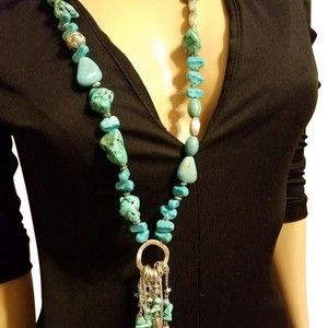 Chico's Turquoise (faux) necklace
