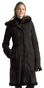 Searle Shearling Fur Leather Fashionable Trench Coat