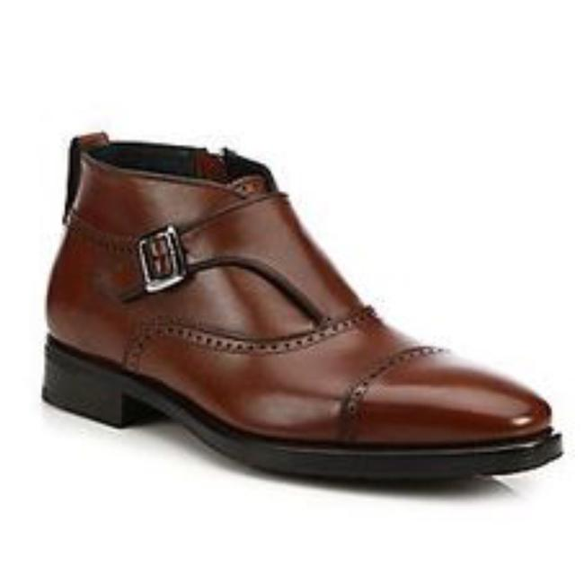 Item - Brown Men's Maite 2 Monk-strap Leather Ankle Boots/Booties Size US 10 Regular (M, B)