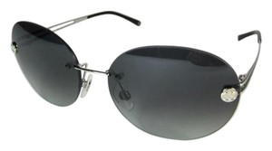 Chanel Black and Silver Gradient Round Chanel Sunglasses 4158 c.124/8G 55