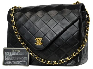 Chanel Triangle Pointy Chebron Quilted Crossbody Shoulder Bag