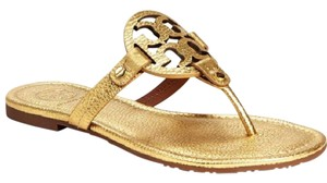 Tory Burch Metallic Miller Flip Flop Gold Sandals