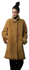 Searle Suded Shearling Leather Coat