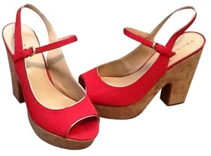 Tahari Red Wedges