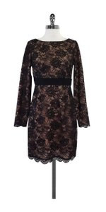 Trina Turk short dress Black & Nude Long Sleeve Lace on Tradesy