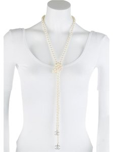 Chanel Chanel Lariat Pearl Necklace