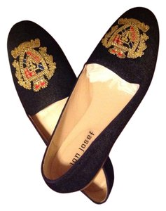 Jon Josef dark navy denim Flats