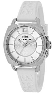Coach Coach Boyfriend 14502093 White Silicone Signature Womens Watch
