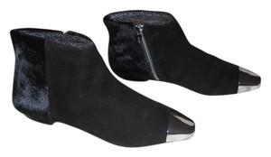 Sigerson Morrison Pony Hair Chic Design Black Boots
