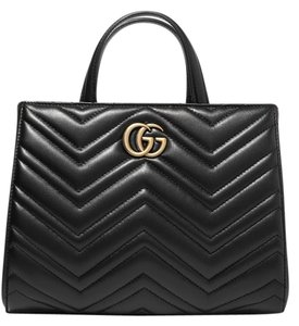 Gucci Gg Marmont Leather Tote in black