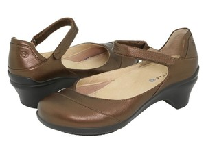 Aravon Metallic Brown Mules