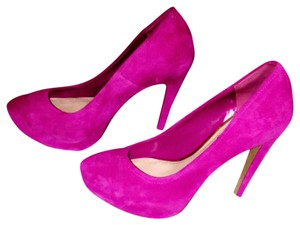 Jessica Simpson Suede Hot Work Cute Hidden Platform Pink Pumps