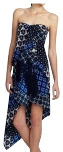 BCBGMAXAZRIA short dress blue and multicolor on Tradesy