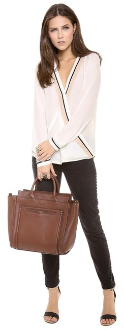 Item - New York Claremont Drive Marcella Brown Leather Cross Body Bag
